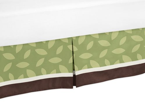 Jungle Time Bed Skirt for Toddler Bedding Sets by Sweet Jojo Designs - Click to enlarge