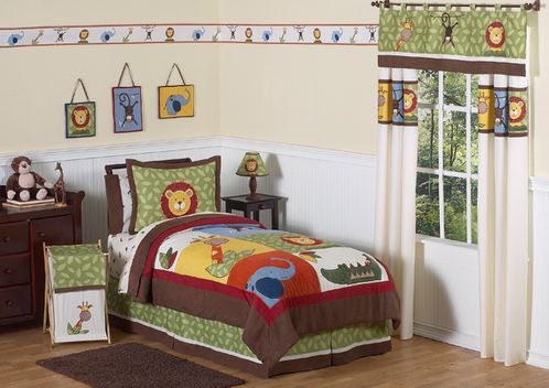 Jungle Time Children & Kids Bedding - 3 pc Full / Queen Set - Click to enlarge