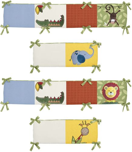 Jungle Time Collection Crib Bumper by Sweet Jojo Designs - Click to enlarge