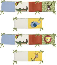 Jungle Time Collection Crib Bumper by Sweet Jojo Designs