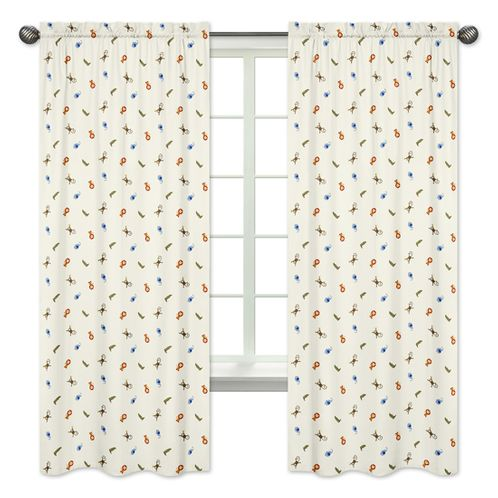 Jungle Time Collection Window Treatment Panels by Sweet Jojo Designs - Set of 2 - Click to enlarge
