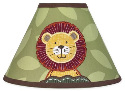 Jungle Time Lamp Shade by Sweet Jojo Designs - Click to enlarge