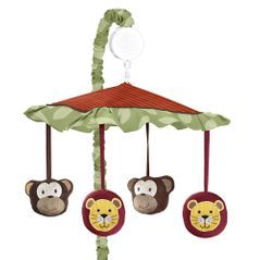 Jungle Time Musical Baby Crib Mobile by Sweet Jojo Designs