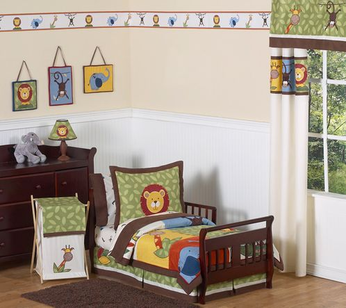 Jungle Time Toddler Bedding - 5 pc Set - Click to enlarge