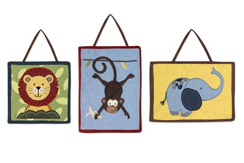 Jungle Time Wall Hanging Accessories by Sweet Jojo Designs - Click to enlarge