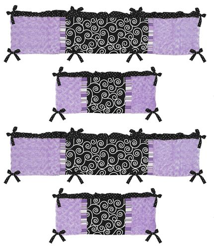 Kaylee Collection Crib Bumper by Sweet Jojo Designs - Click to enlarge