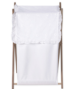 Kids Clothes Laundry Hamper for White Eyelet Bedding Set by Sweet Jojo Designs