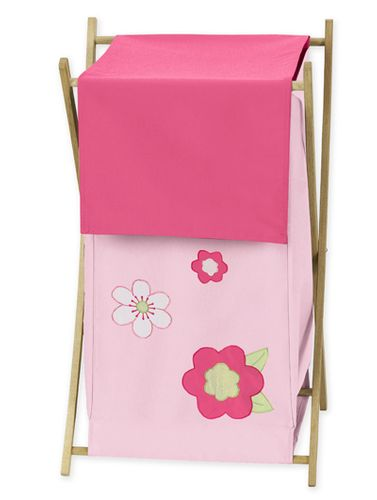 Kids Laundry Hamper for the Pink and Green Flower Collection by Sweet Jojo Designs - Click to enlarge