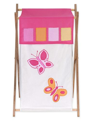 Kids Laundry Hamper for the Pink and Orange Butterfly by Sweet Jojo Designs - Click to enlarge