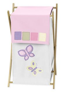 Kids Laundry Hamper for the Pink and Purple Butterfly Collection by Sweet Jojo Designs