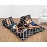 Kids Teen Floor Pillow Case Lounger Cushion Cover for Red and Black Trellis Collection by Sweet Jojo Designs