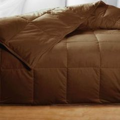 King Chocolate Brown Feather Down Comforter