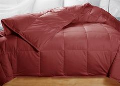 King Cranberry Brick Red Feather Down Comforter