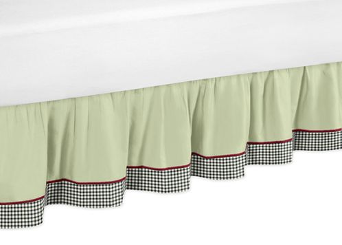 Ladybug Parade Bed Skirt for Toddler Set by Sweet Jojo Designs - Click to enlarge