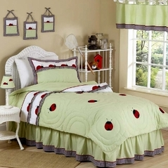 Ladybug Parade Childrens Bedding - 4pc Twin Set