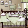 Ladybug Parade Sage Baby Bedding - 9 pc Crib Set