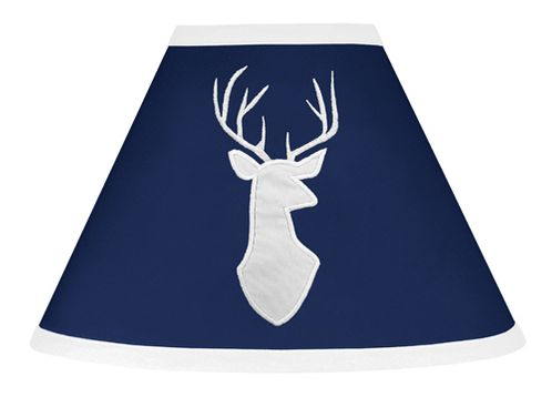 Lamp Shade for Navy, Mint and Grey Woodsy Collection by Sweet Jojo Designs - Click to enlarge