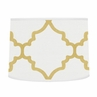 Lamp Shade for White and Gold Trellis Collection by Sweet Jojo Designs