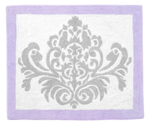 Lavender and Gray Elizabeth Accent Floor Rug by Sweet Jojo Designs - Click to enlarge