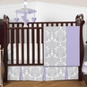 Lavender and Gray Elizabeth Baby Bedding - 4pc Crib Set by Sweet Jojo Designs