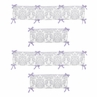 Lavender and Gray Elizabeth Collection Crib Bumper by Sweet Jojo Designs