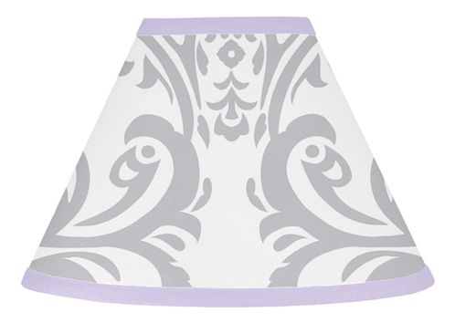 Lavender and Gray Elizabeth Lamp Shade by Sweet Jojo Designs - Click to enlarge