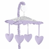 Lavender and Gray Elizabeth Musical Baby Crib Mobile by Sweet Jojo Designs
