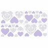 Lavender and Gray Elizabeth Peel and Stick Wall Decal Stickers Art Nursery Decor by Sweet Jojo Designs - Set of 4 Sheets