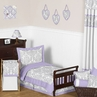 Lavender and Gray Elizabeth Toddler Bedding - 5pc Set by Sweet Jojo Designs