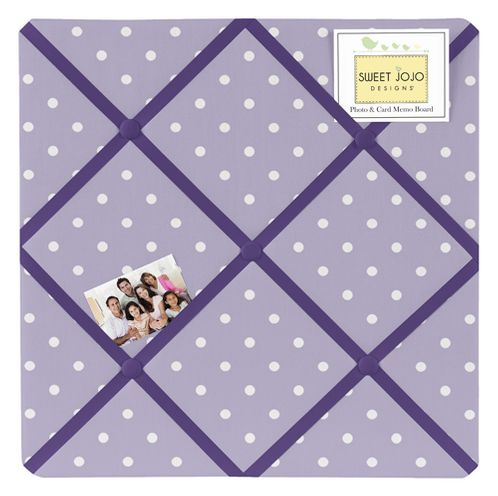 Lavender and Purple Sloane Fabric Memory/Memo Photo Bulletin Board - Click to enlarge