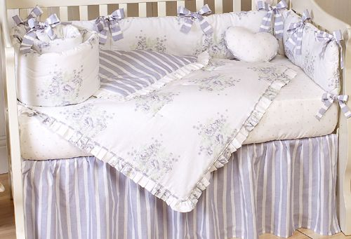 Lavender And Sage Floral Shabby Chic Baby Bedding 9 Pc Crib Set Only 129 99