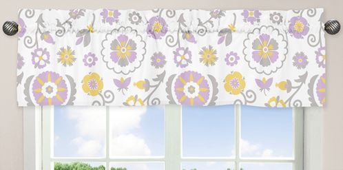 Lavender and White Suzanna�Window Valance by Sweet Jojo Designs - Click to enlarge