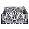 Lavender, Purple, Black and White Sloane Baby Crib Side Rail Guard Covers by Sweet Jojo Designs - Set of 2