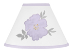 Lavender Purple, Grey and White Lamp Shade for Watercolor Floral Collection by Sweet Jojo Designs