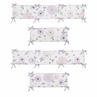 Lavender Purple, Pink, Grey and White Shabby Chic Baby Crib Bumper Pad for Watercolor Floral Collection by Sweet Jojo Designs