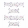 Lavender Purple, Pink, Grey and White Shabby Chic Baby Crib Bumper Pad for Watercolor Floral Collection by Sweet Jojo Designs - Rose Flower