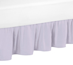 Lavender Purple Ruffled Twin Bed Skirt Dust Ruffle for Watercolor Floral Collection by Sweet Jojo Designs
