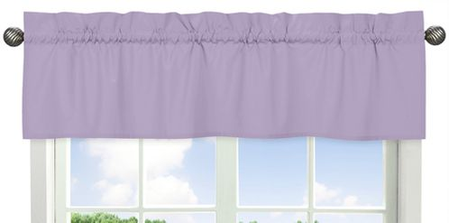 Lavender Purple Window Valance by Sweet Jojo Designs - Click to enlarge