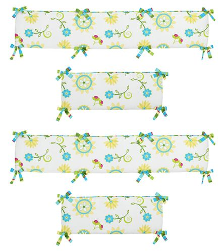 Layla Collection Crib Bumper by Sweet Jojo Designs - Click to enlarge