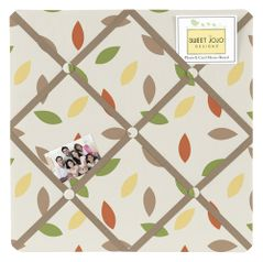 Leaf Print Fabric Memory/Memo Photo Bulletin Board for Sweet Jojo Designs Forest Friends Sets
