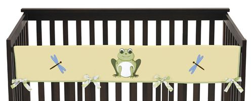 Leap Frog Baby Crib Long Rail Guard Cover by Sweet Jojo Designs - Click to enlarge