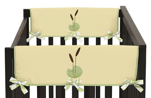 Leap Frog Baby Crib Side Rail Guard Covers by Sweet Jojo Designs - Set of 2 - Click to enlarge