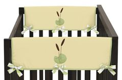 Leap Frog Baby Crib Side Rail Guard Covers by Sweet Jojo Designs - Set of 2