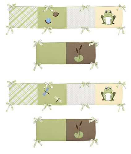 Leap Frog Collection Crib Bumper by Sweet Jojo Designs - Click to enlarge