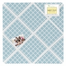 Light Blue Lattice Fabric Memory/Memo Photo Bulletin Board for Woodland Animal Toile Sets