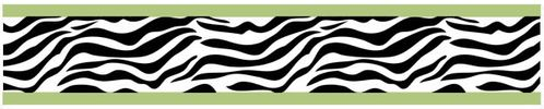 Lime Funky Zebra Baby, Kids and Teens Wall Paper Border by Sweet Jojo Designs - Click to enlarge