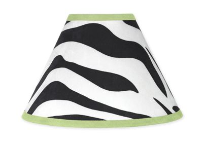 Lime Funky Zebra Lamp Shade by Sweet Jojo Designs - Click to enlarge
