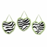 Lime Funky Zebra Wall Hanging Accessories by Sweet Jojo Designs