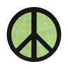 Lime Groovy Peace Sign Tie Dye Accent Floor Rug