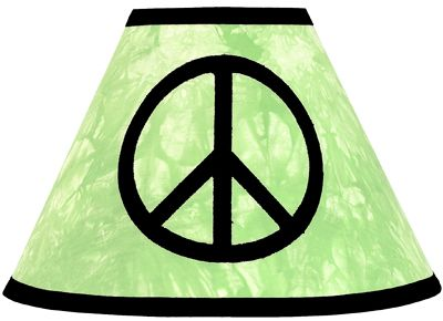 Lime Groovy Peace Sign Tie Dye Lamp Shade by Sweet Jojo Designs - Click to enlarge